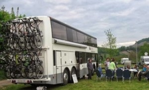 bushotel met fietsenrek